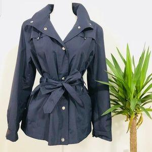 Dressbarn Hooded Rain Jacket